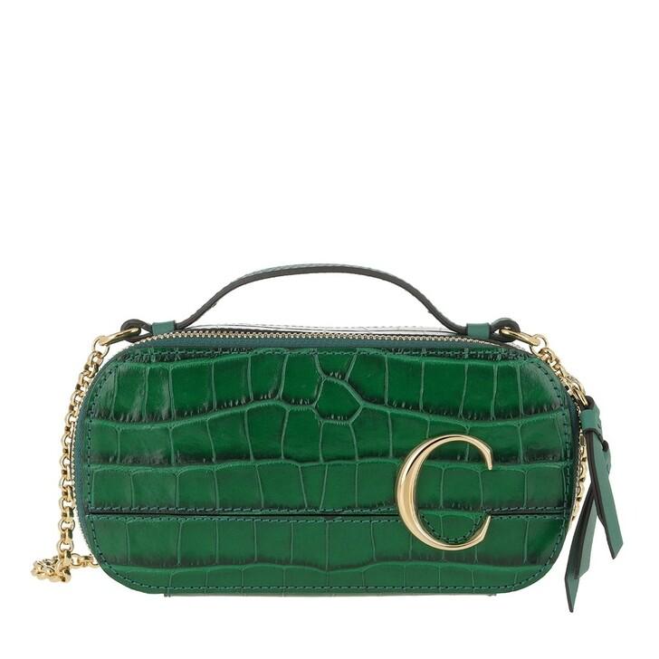 Handtasche, Chloé, Mini C Crossbody Bag Green