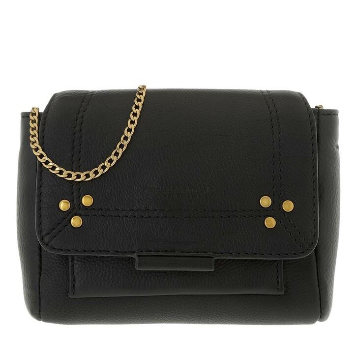 Handtasche, Jerome Dreyfuss, Lulu XS Clutch Noir Brass