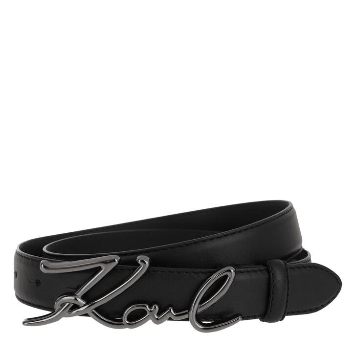 Gürtel, Karl Lagerfeld, Signature Belt Black
