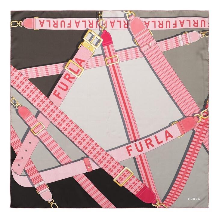 scarves, Furla, Furla Tortona Carre' 90X90 Candy Rose
