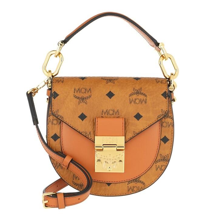 bags, MCM, Patricia Visetos Shoulder Bag Mini Cognac