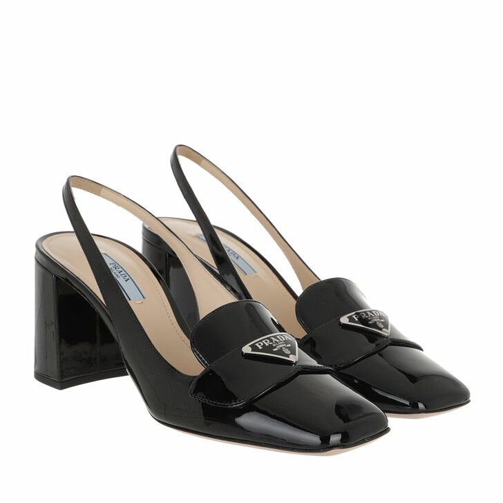 Schuh, Prada, Slingback Pumps Leather Black
