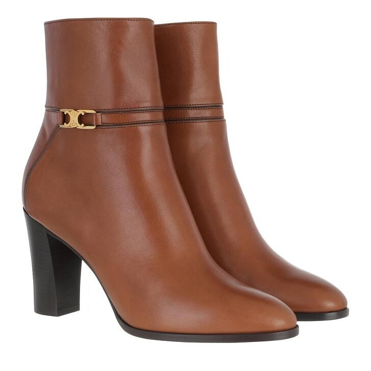 Schuh, Celine, Claude Ankle Boots Leather Toffee