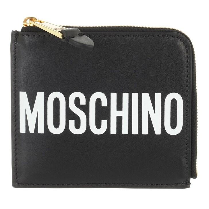 wallets, Moschino, Portafoglio Fantasia Nero