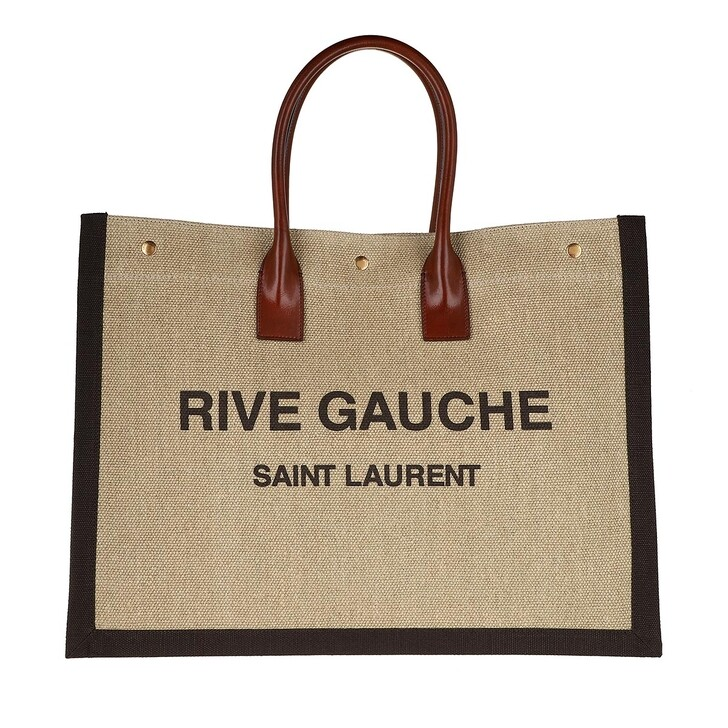 Handtasche, Saint Laurent, Noe Tote Bag Natural/Dark Mud/Chocolate
