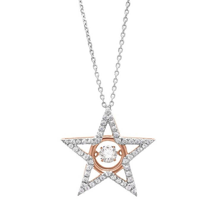 Kette, Julie Julsen, Dancing Stone Star Necklace Rosegold