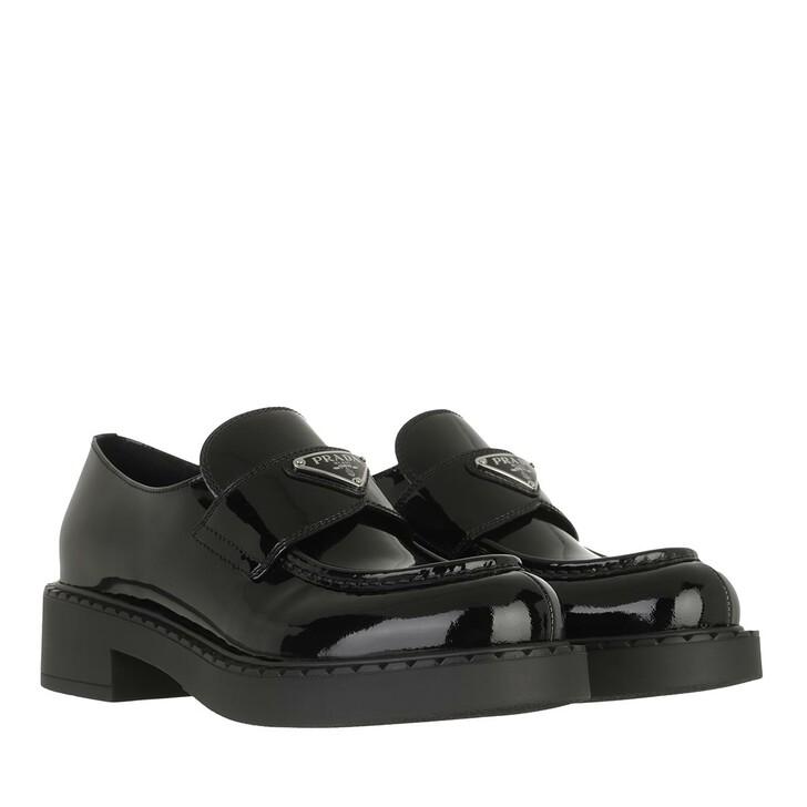 shoes, Prada, Loafers Black