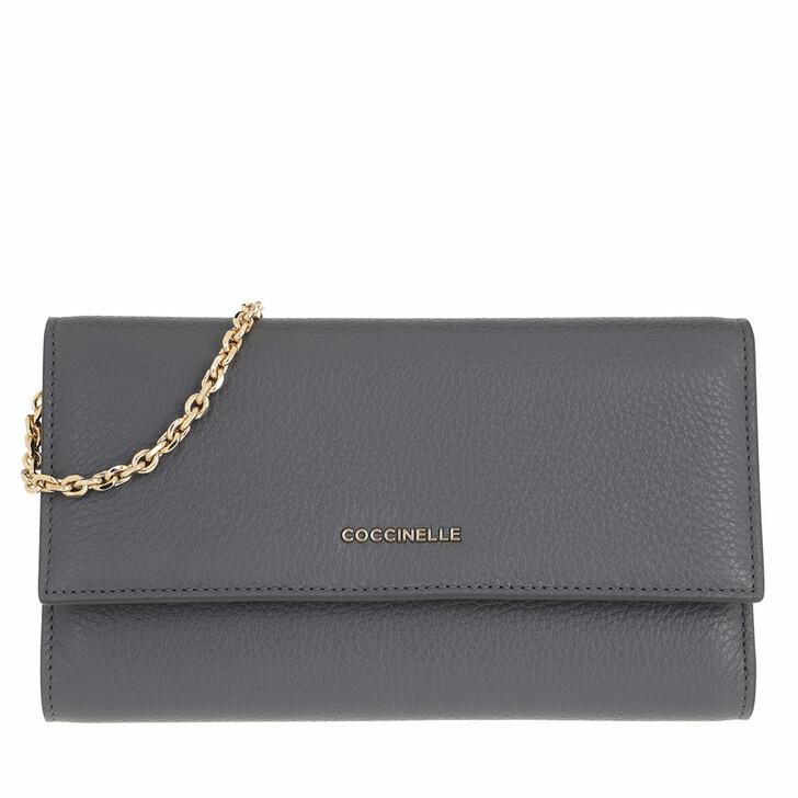wallets, Coccinelle, Metallic Soft Ash Grey