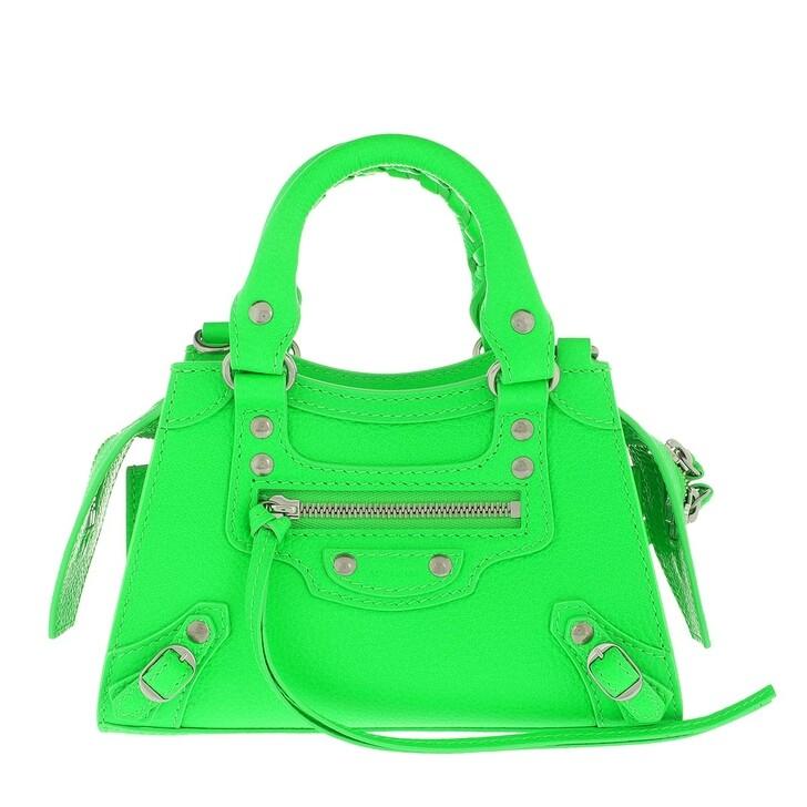 Handtasche, Balenciaga, Nano Neo Classic Crossbody Bag Fluo Green