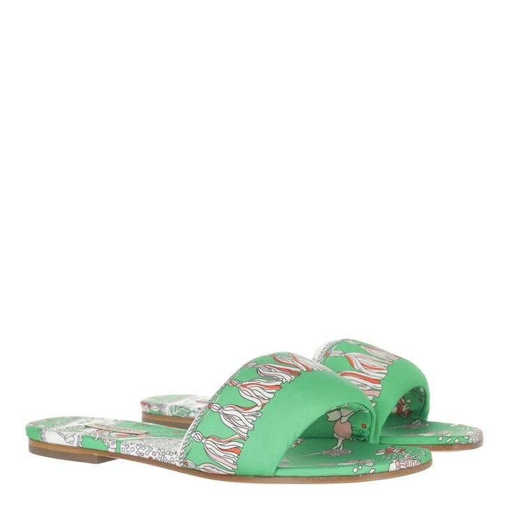 shoes, Emilio Pucci, Rugiada Mules Verde/Arancio