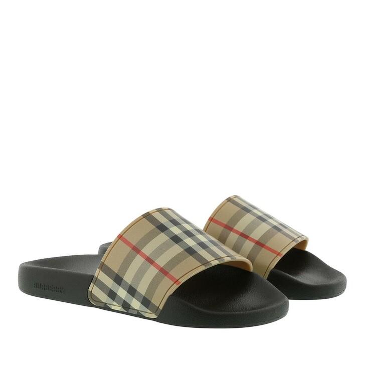 Schuh, Burberry, Vintage Check Slides  Beige