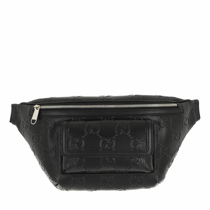 belt_bags, Gucci, GG Embossed Belt Bag Leather Black