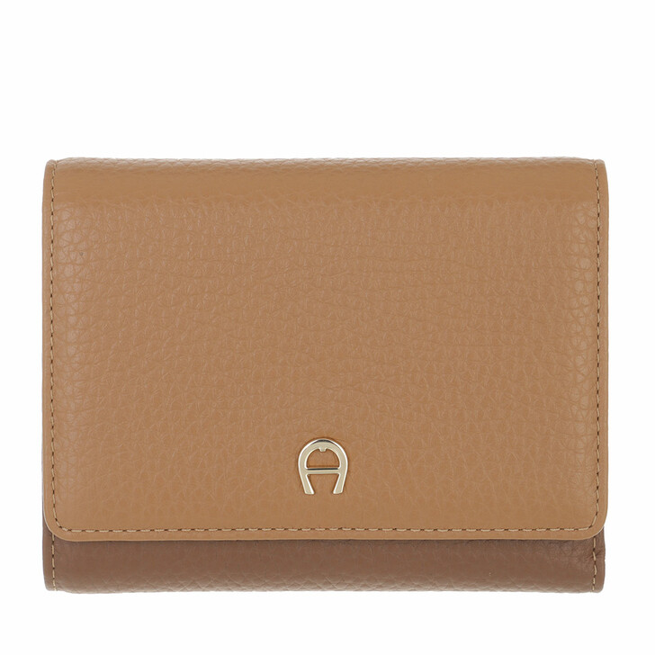wallets, AIGNER, Tara Wallet Dark Toffee Brown