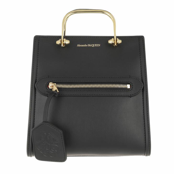 bags, Alexander McQueen, The Short Story Crossbody Bag Leather Black