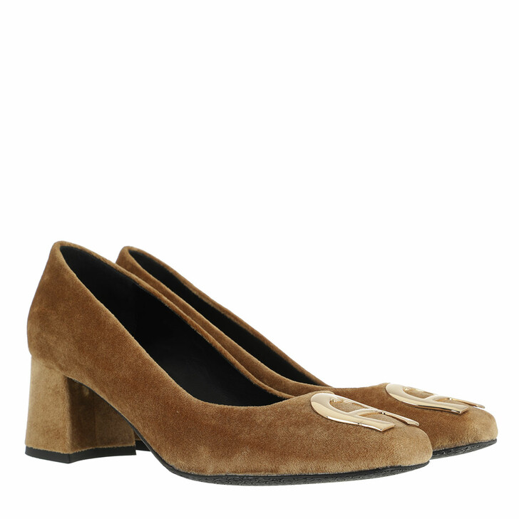 Schuh, AIGNER, Grazia Block Heel Pumps Camel