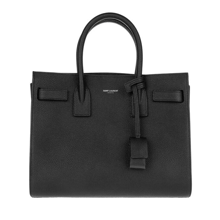 Handtasche, Saint Laurent, Sac Du Jour Baby Tote Cuir Noir