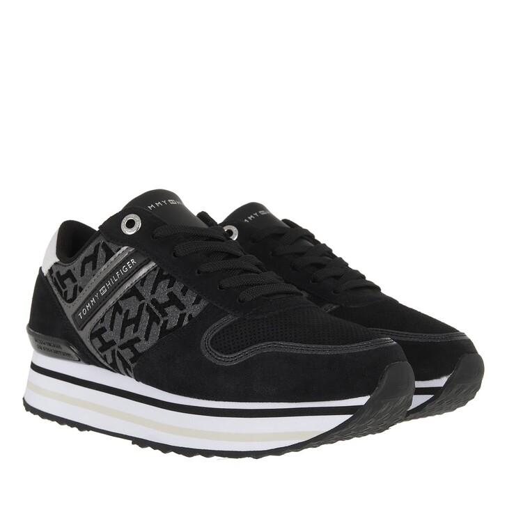 Schuh, Tommy Hilfiger, TH Metallic Flatform Sneakers White