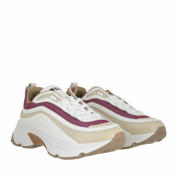 shoes, MSGM, Scarpa Donna Lilac White Beige