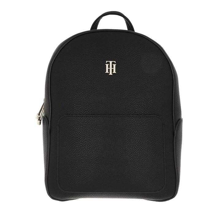 bags, Tommy Hilfiger, Tommy Hilfiger Essence Backpack Black
