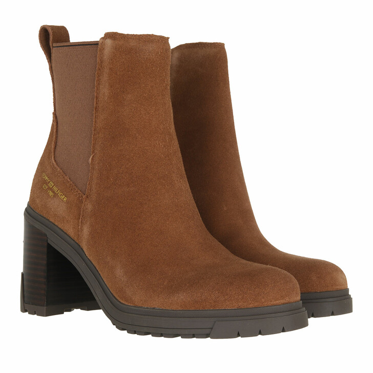 shoes, Tommy Hilfiger, TH Outdoor High Heel Boot Natural Cognac