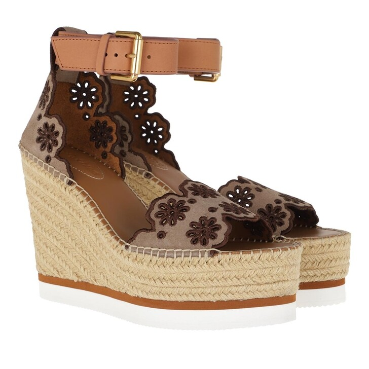 Schuh, See By Chloé, Plateau Espadrilles Taupe/Naturale