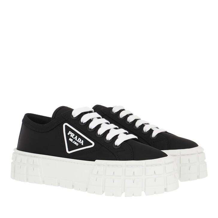 Schuh, Prada, Plateau Logo Sneakers Black/White