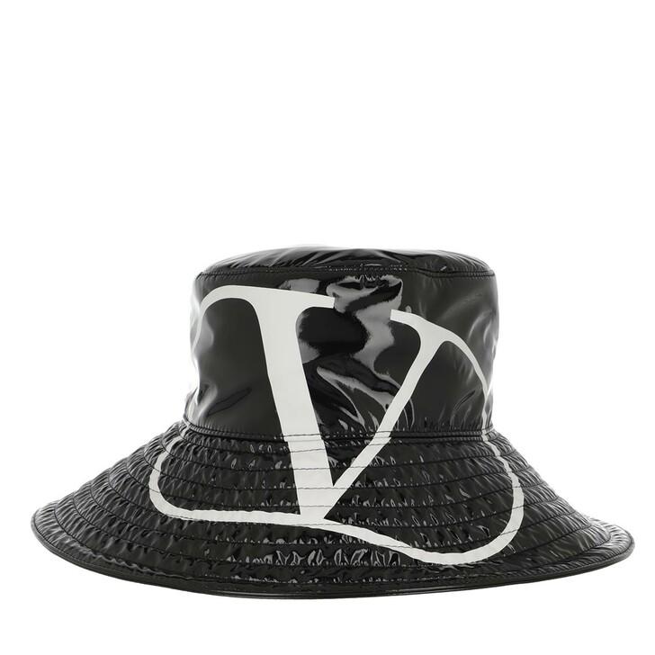 hats, Valentino Garavani, Bucket Hat Black/White