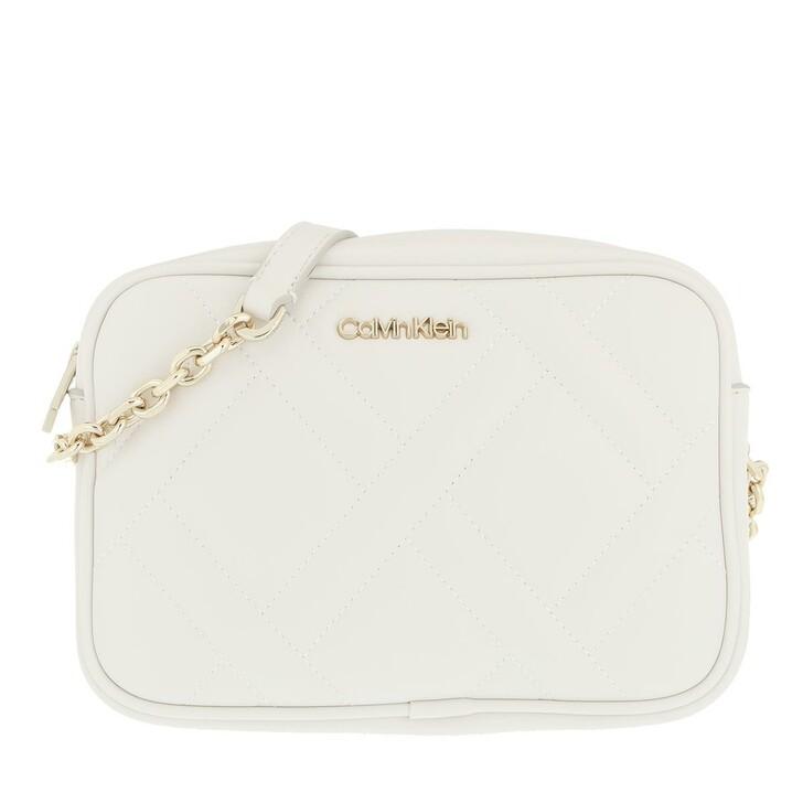 bags, Calvin Klein, CK Quilt Camera Bag Ecru