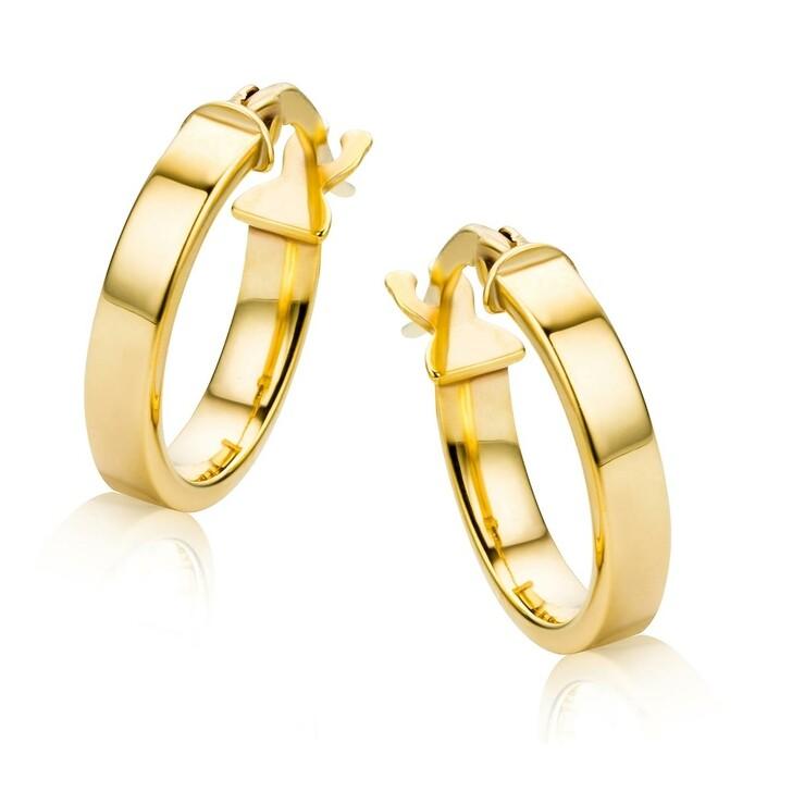 Ohrring, DIAMADA, 9KT Earrings  Yellow Gold