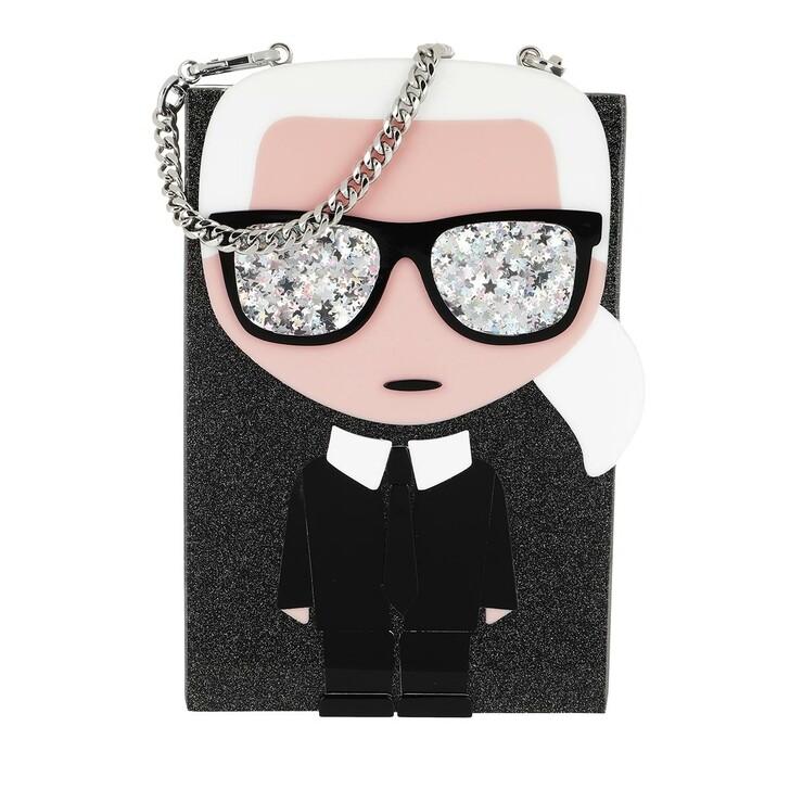 bags, Karl Lagerfeld, Ikonik Karl Minaudiere Black