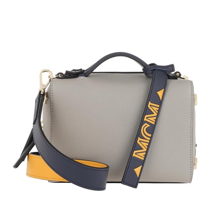 Handtasche, MCM, Boston Bowling Bag Arch Grey