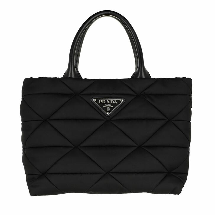 bags, Prada, Small Padded Tote Bag Black