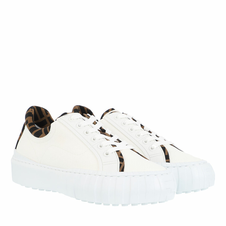 shoes, Fendi, Force Sneakers White