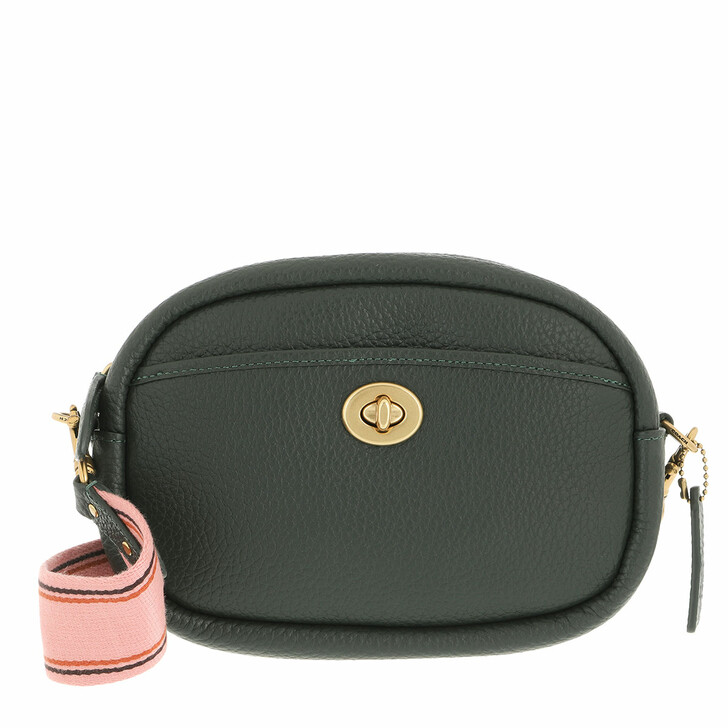 bags, Coach, Soft Pebble Leather Camera Bag With Leather And We Amazon Green