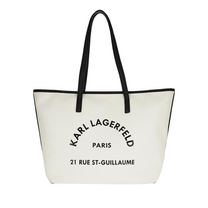 Handtasche, Karl Lagerfeld, Rue Tote White