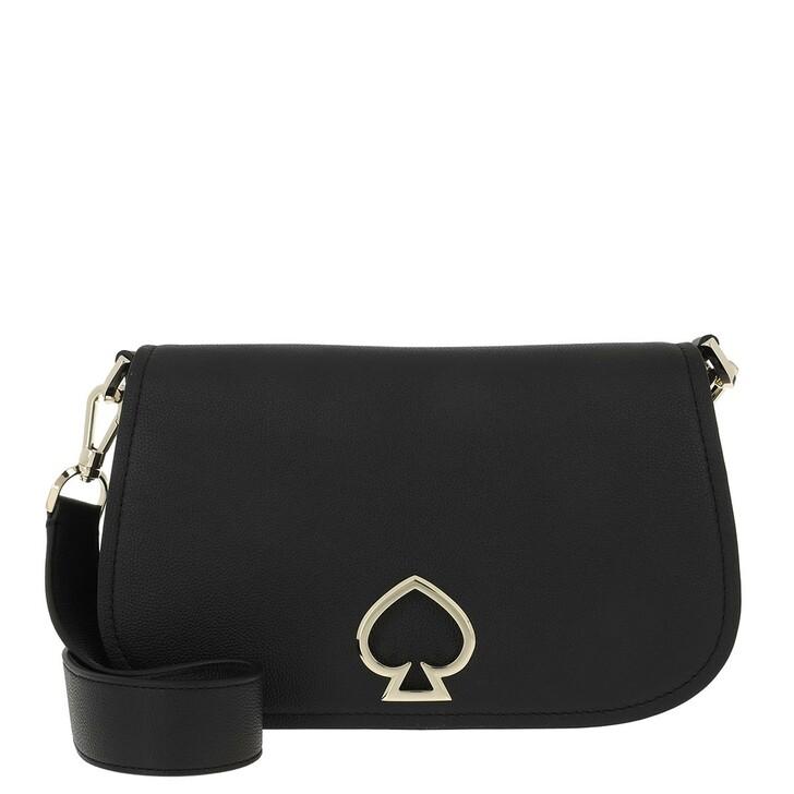 Handtasche, Kate Spade New York, Suzy Medium Saddle Bag Black Black