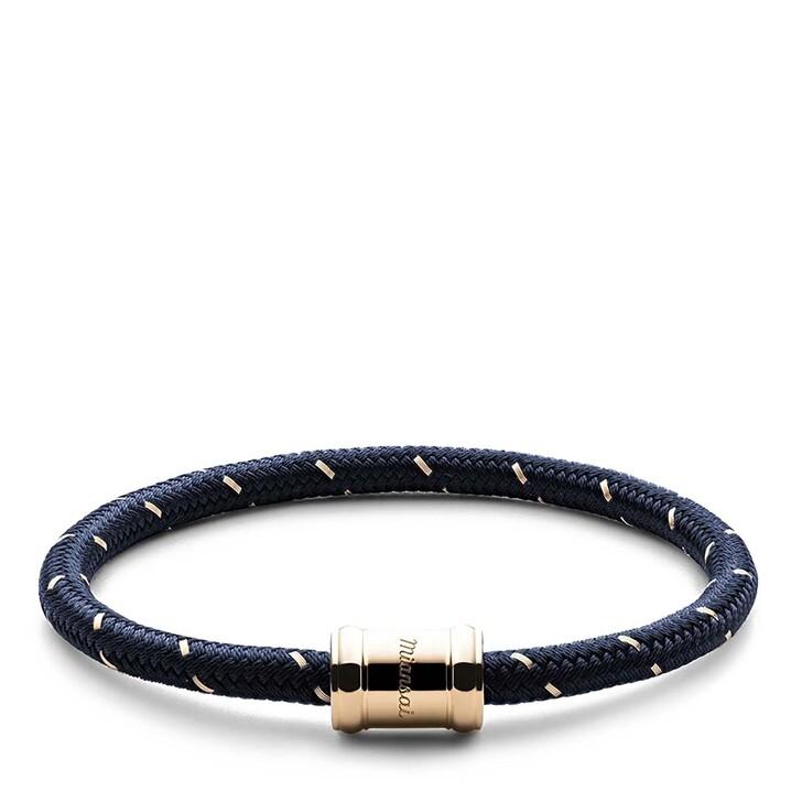 Armreif, Miansai, Mini Single Rope Casing Bracelet Plated M Navy/Gold
