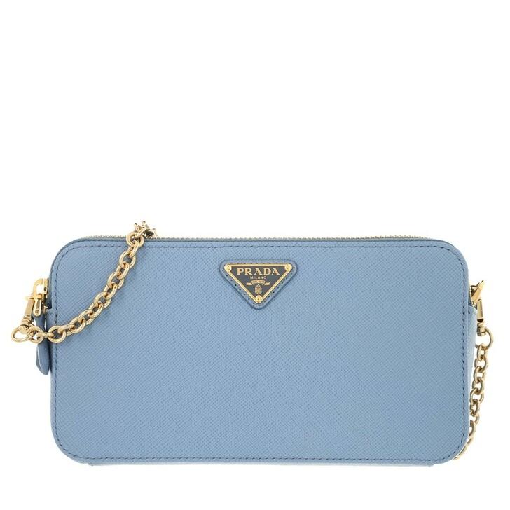 Handtasche, Prada, Dual Zip Shoulder Bag Leather Astrale