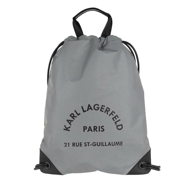 bags, Karl Lagerfeld, Rue Saint Guillaume Flat Backpack Reflective