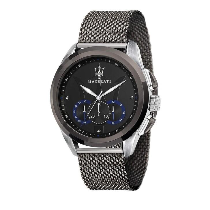 Uhr, Maserati, Traguardo 45mm silver