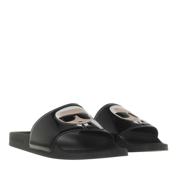 Schuh, Karl Lagerfeld, KONDO Shine Ikonic Slide Black Rubber