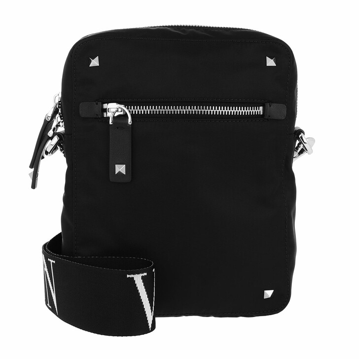 Handtasche, Valentino Garavani, VLTN Messenger Bag Black