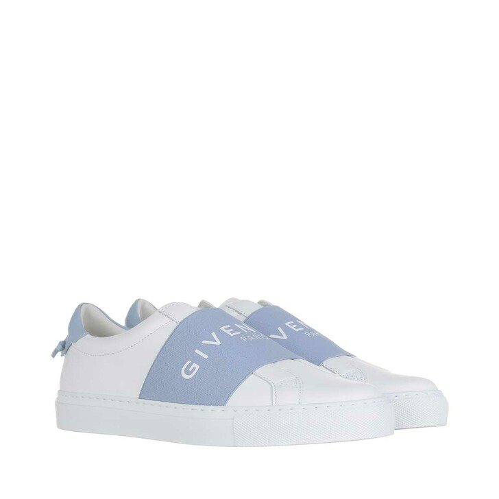 Schuh, Givenchy, Paris Webbing Sneaker Leather White Sky Blue