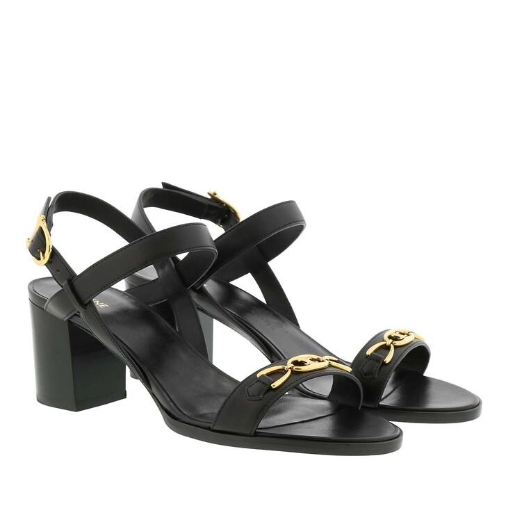 Schuh, Celine, Triomphe Sandals Leather Black