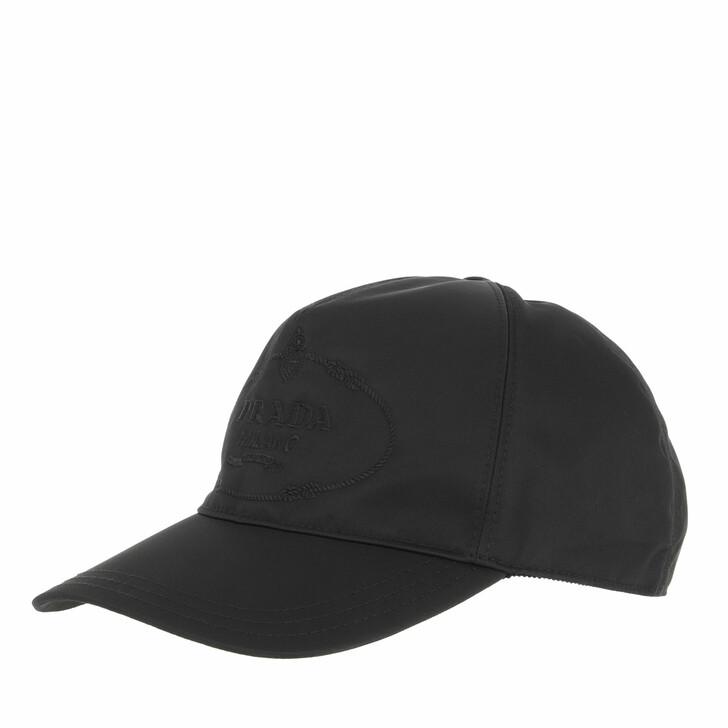 hats, Prada, Baseball Cap Black