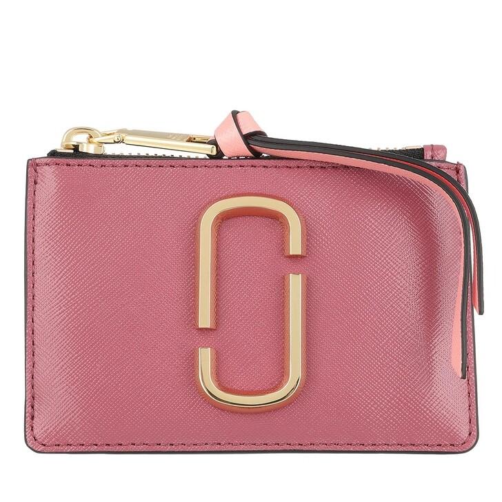 Geldbörse, Marc Jacobs, The Snapshot Top Zip Wallet Leather Ruby/Multi