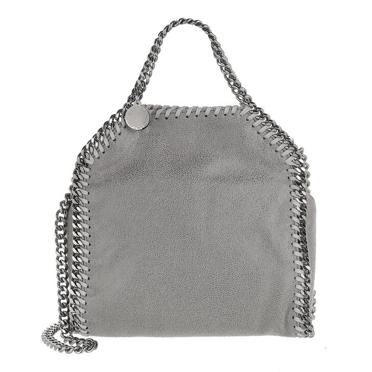Handtasche, Stella McCartney, Tiny Falabella Shaggy Deer Light Grey