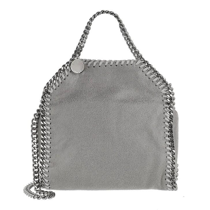 bags, Stella McCartney, Tiny Falabella Shaggy Deer Light Grey
