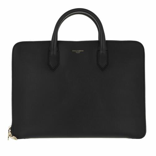 dolce&gabbana -  Herrentaschen - Men Laptop Briefcase Leather - in schwarz - für Damen
