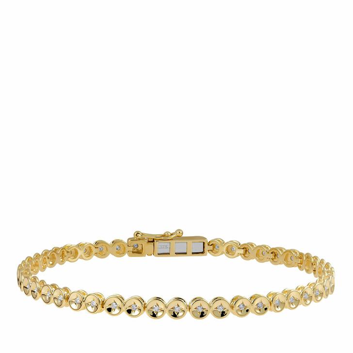 bracelets, diamondline, Bracelet 375 48 Diamonds total approx. 0,35 ct. K- Yellow Gold